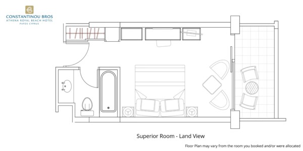 4 Superior Room - Land View