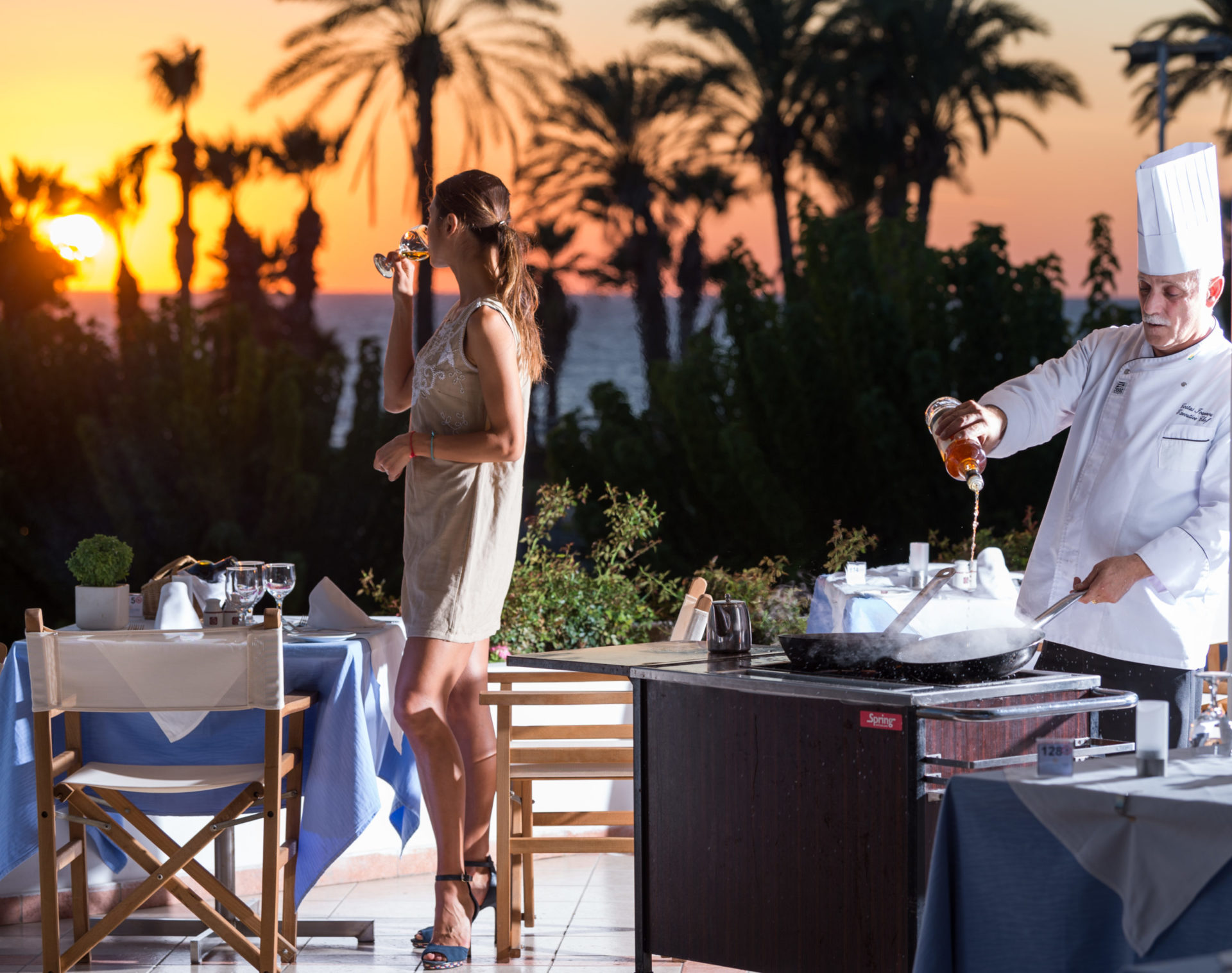 18 ATHENA ROYAL BEACH HOTEL PYGMALION RESTAURANT- FLAMBE